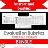 Instructional Coaching: Teacher & Coach Evaluation Rubrics