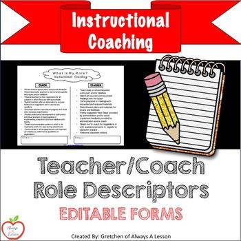 Instructional Coaching: Teacher-Coach Role Descriptors