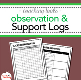 Instructional Coaching – Teacher Observation and Support Logs
