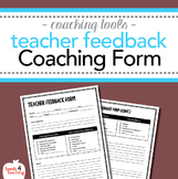 Instructional Coaching – Teacher Walkthrough Feedback Form