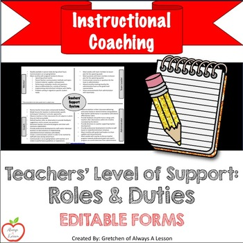 Instructional Coaching: Teachers' Level of Support