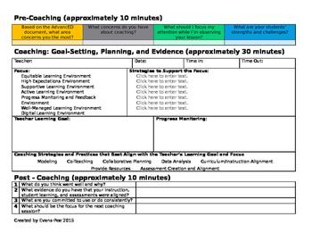 Instructional Coaching Template