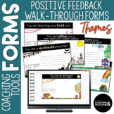 Instructional Coaching Themed Positive Feedback Walkthrough Form