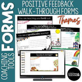 Instructional Coaching Themed Positive Feedback Walkthrough Form