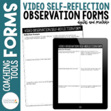 Instructional Coaching Video Self-Reflection Form for Teachers