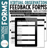 Instructional Coaching Virtual Observation Feedback Forms