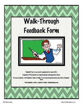 Instructional Coaching Walk-Through Form