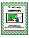 Instructional Coaching Walk-Through Form