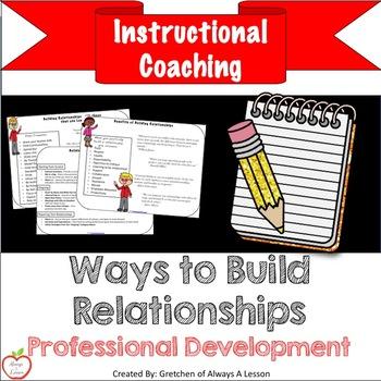 Instructional Coaching: Ways to Build Relationships