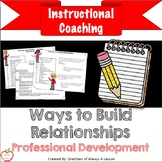 Instructional Coaching: Ways to Build Relationships [Editable]