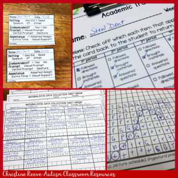Data Sheets EDITABLE Mega-Pack for Instruction for Special Education