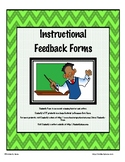 Instructional Coaching Feedback Packet
