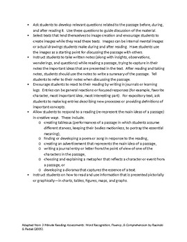 Instructional Focus - Ideas for Teaching Comprehension