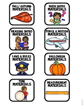 Instructional Materials Storage Labels