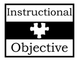 Instructional Objective Poster