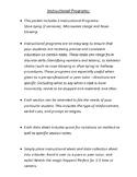 Instructional Programs: Behavior Chains