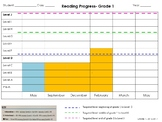 Instructional Reading Level Progress Graphs, Editable