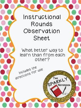 Instructional Rounds Observation Sheet