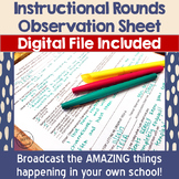 Instructional Rounds Observation Sheet