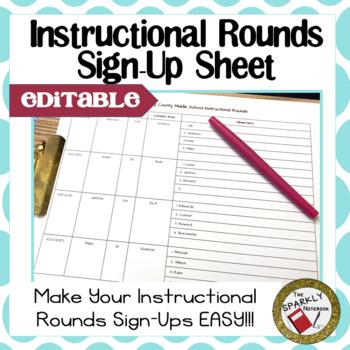 Instructional Rounds Teacher Sign-Up - Editable