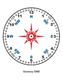 Instructional Size Geometry Time Protractor, Clock and Compass