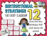 Instructional Strategies -  12 Strategies That Work In Any