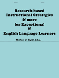 Instructional Strategies Flipbook for ELLs/Exceptional Learners