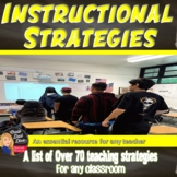 Instructional Strategies| Teaching Strategies for ANY Classroom | 70 Total