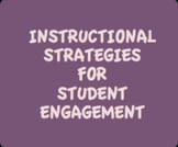 Instructional Strategies for Student Engagement Tool