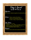 Instructional Strategy - Today's Special Menu template