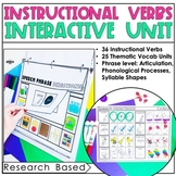Instructional Verbs: Speech Therapy Interactive Unit #july
