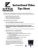 Instructional Video Tip Sheet