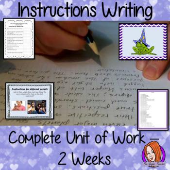 Instruction Writing - English Complete Unit of Work