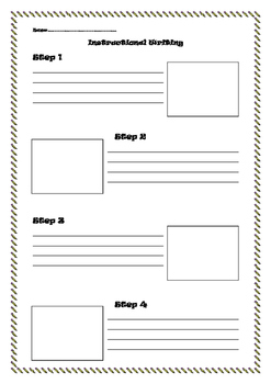 Instructional Writing Template