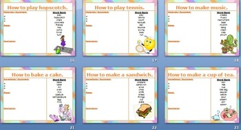 Instruction/procedure Writing Stimulus SLIDESHOW 30 topics for writing 'how to'