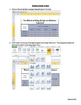 Instructions Creating a Graph in Microsoft Excel for Science Data
