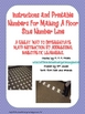 Instructions and Printable Numbers for Making Floor Sized
