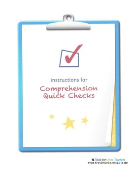 Instructions for Comprehension Quick Checks