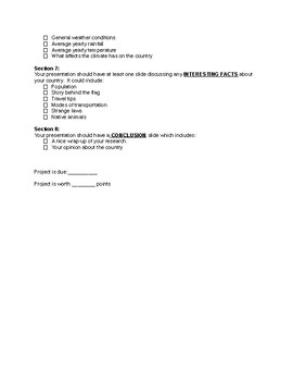Instructions for Geography Research project checklist