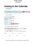 Instructions for Google Calendar