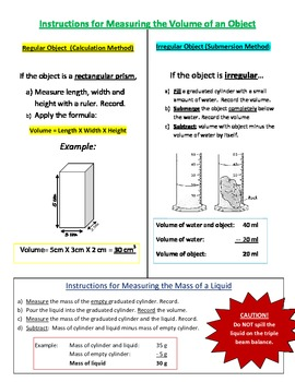Instructions for How to Measure Density of an Object