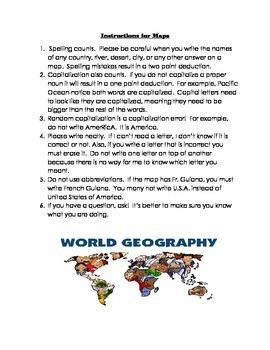 Instructions for maps