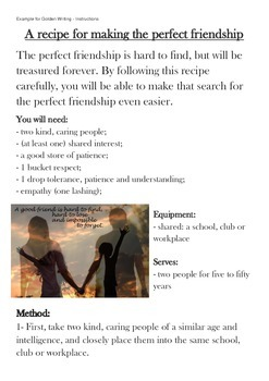 Instructions for the Perfect Friendship Example