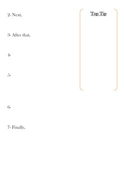 Instructions for the Perfect Friendship Writing Frame