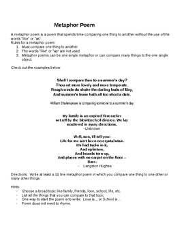 Instructions for writing 8 different types of poetry