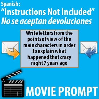 Instructions Not Included Movie Activity In Spanish Tpt