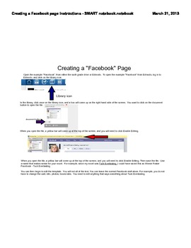 Instructions on Editing the Facebook Template