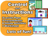 Instructions to control machines - A fun 3 Lessons - EDITABLE
