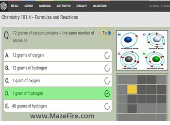 Instructor's Pak for the Chemistry101 *Semester Pak* of Maze Games
