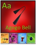 26 Music Instrument Alphabet Posters